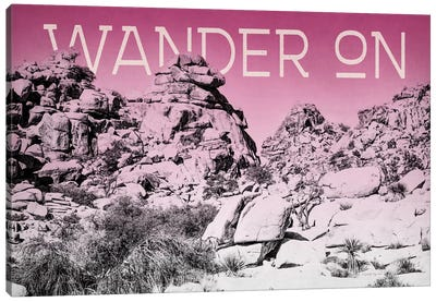 Ombre Adventure: Wander On Canvas Art Print