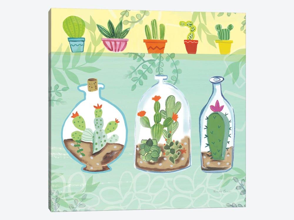 Cacti Garden, No Birds And Butterflies I by Farida Zaman 1-piece Canvas Art