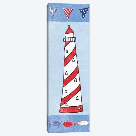 Coastal Lighthouse On Blue II Canvas Print #WAC8077} by Farida Zaman Canvas Print