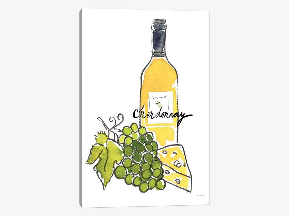 Wine Time: Chardonnay by Farida Zaman 1-piece Canvas Print