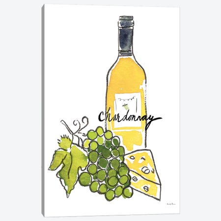 Wine Time: Chardonnay Canvas Print #WAC8079} by Farida Zaman Canvas Art