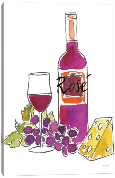 Wine Time: Rose Canvas Art Print