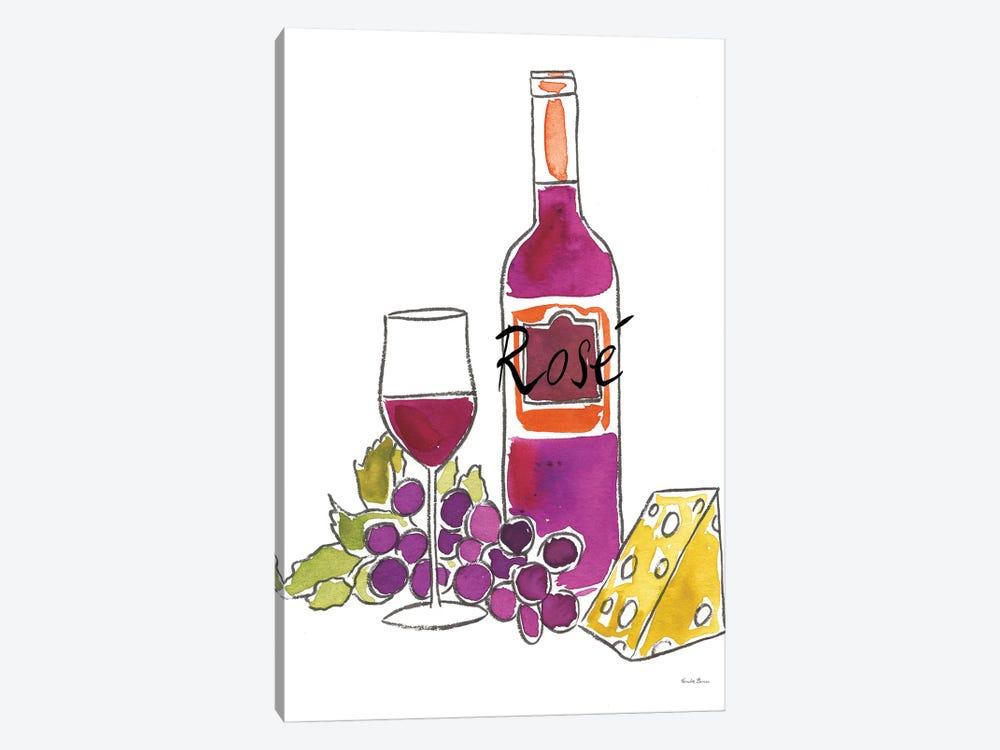 Wine Time: Rose by Farida Zaman 1-piece Canvas Art Print
