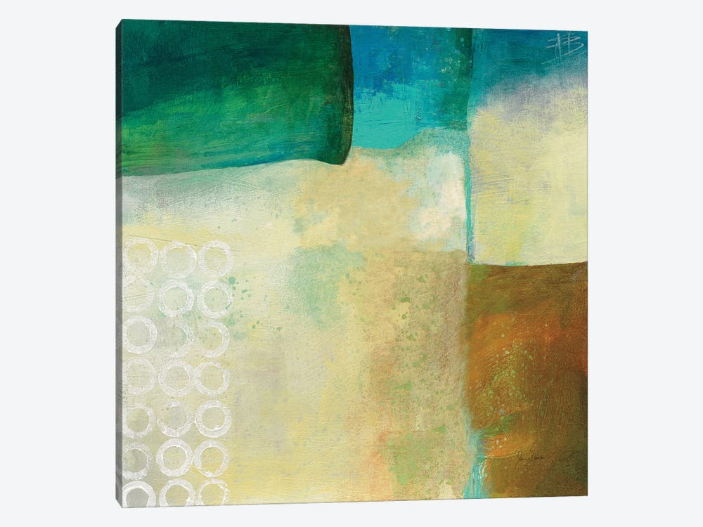 Circles No Red III by Jane Davies 1-piece Canvas Print