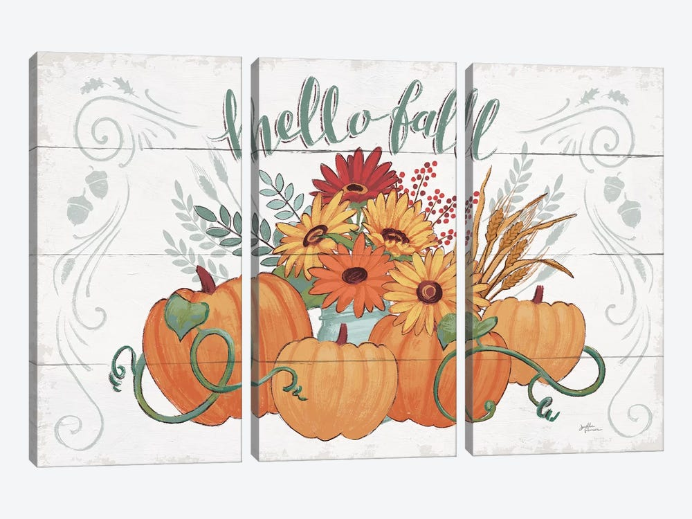 Fall Fun I by Janelle Penner 3-piece Canvas Artwork