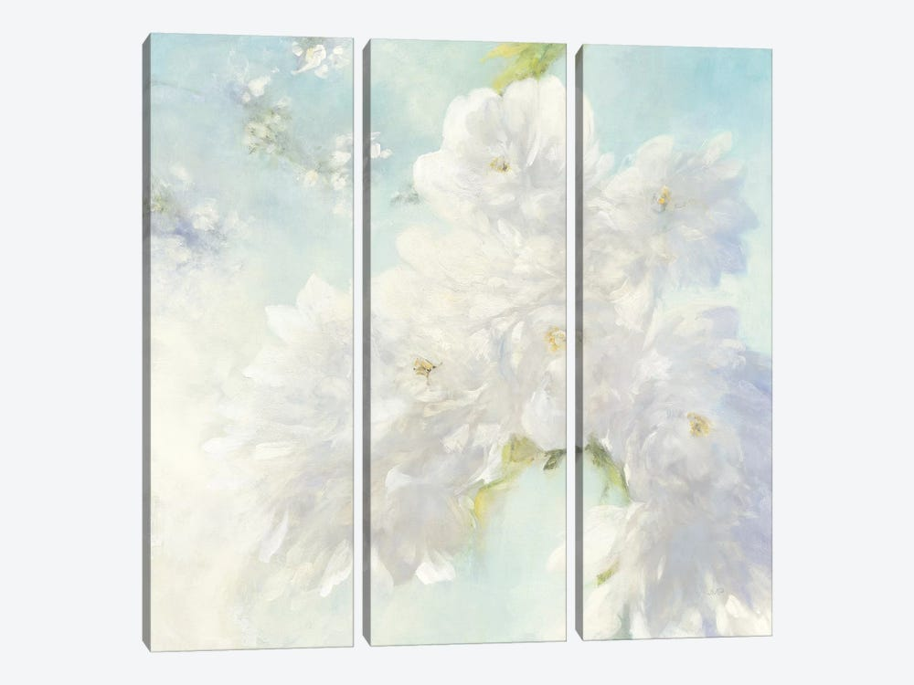 Pear Blossoms, Bright by Julia Purinton 3-piece Canvas Wall Art