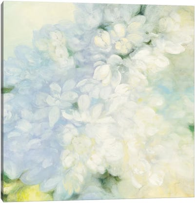 White Lilacs, Bright Canvas Art Print