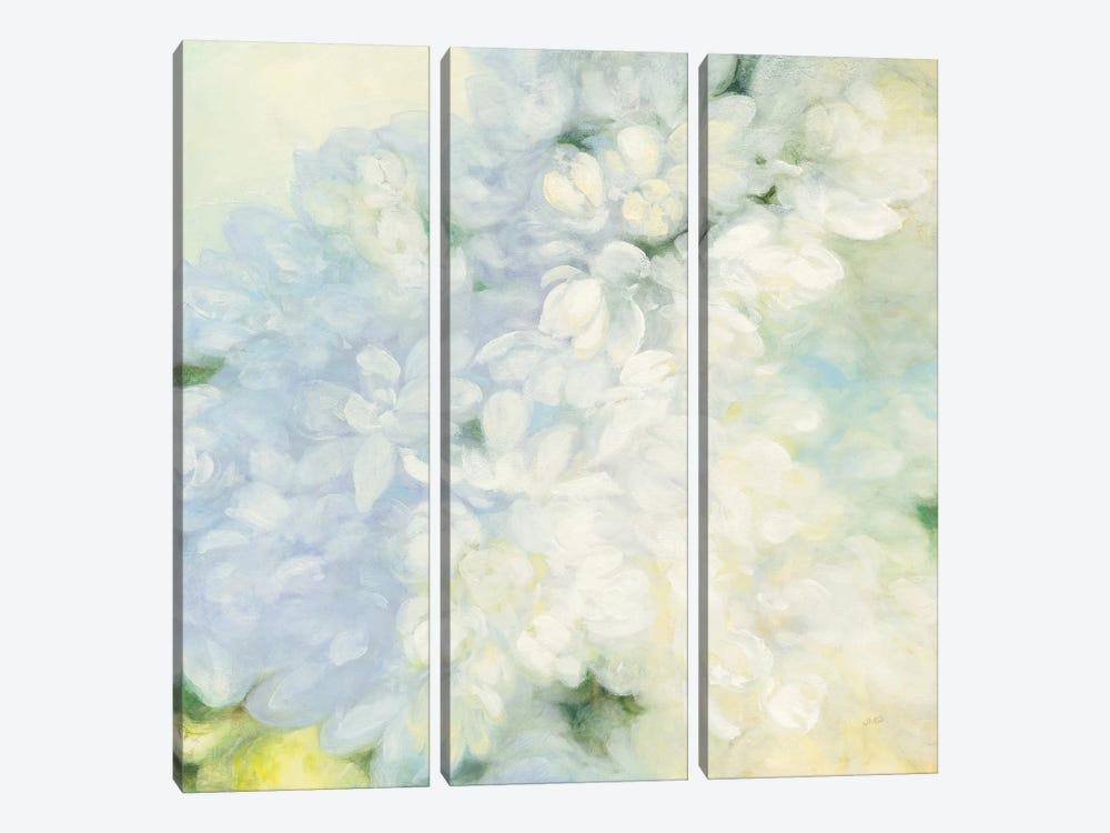 White Lilacs, Bright by Julia Purinton 3-piece Canvas Print