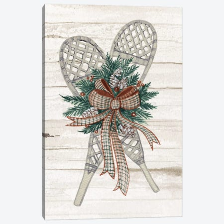 Holiday Sports On Wood III Luxe Canvas Print #WAC8115} by Kathleen Parr McKenna Canvas Wall Art