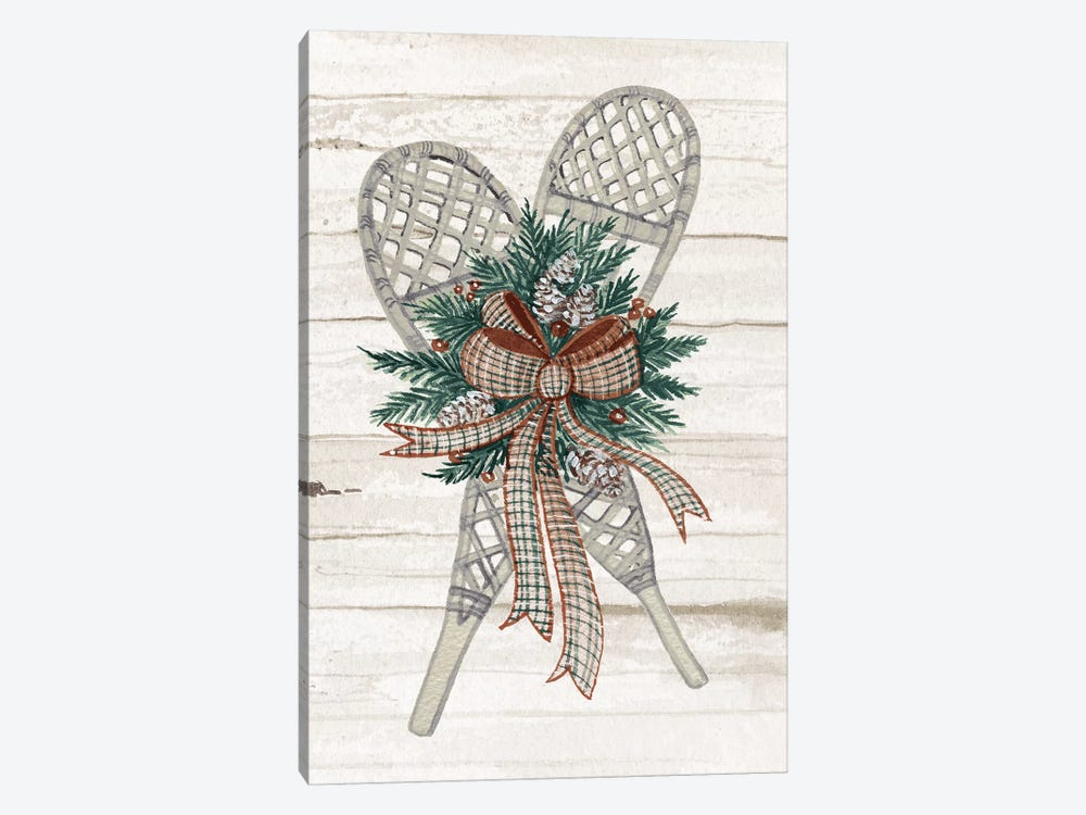 Holiday Sports On Wood III Luxe by Kathleen Parr McKenna 1-piece Canvas Wall Art
