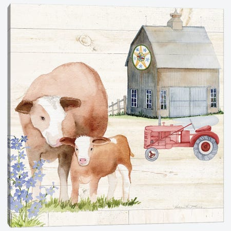 Life On The Farm I Canvas Print #WAC8116} by Kathleen Parr McKenna Canvas Wall Art