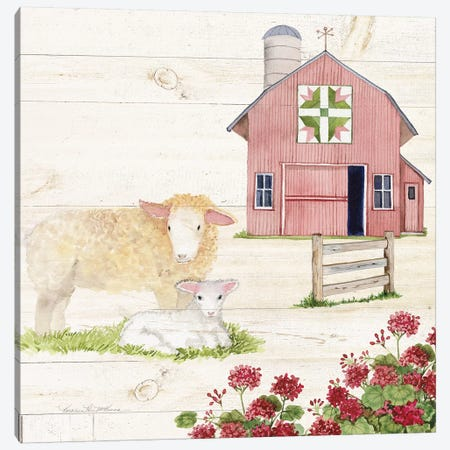 Life On The Farm II Canvas Print #WAC8117} by Kathleen Parr McKenna Canvas Art