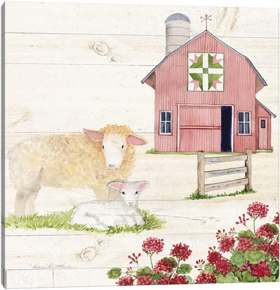 Life On The Farm II Canvas Art Print