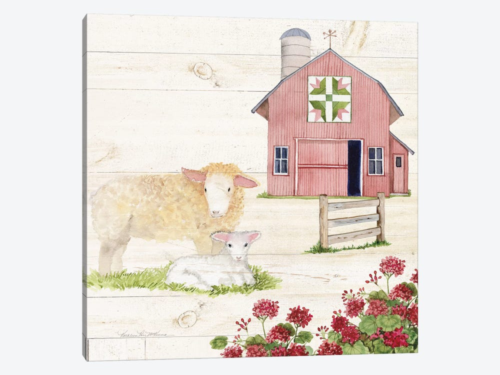 Life On The Farm II by Kathleen Parr McKenna 1-piece Canvas Artwork