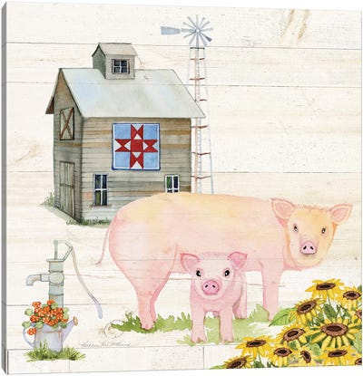Life On The Farm III Canvas Art Print