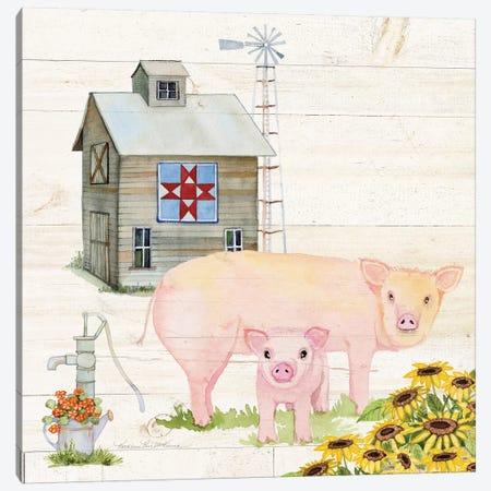 Life On The Farm III Canvas Print #WAC8118} by Kathleen Parr McKenna Art Print
