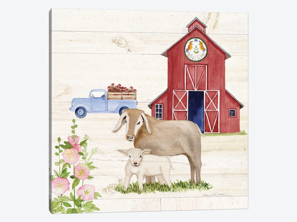 Life On The Farm IV by Kathleen Parr McKenna 1-piece Canvas Art