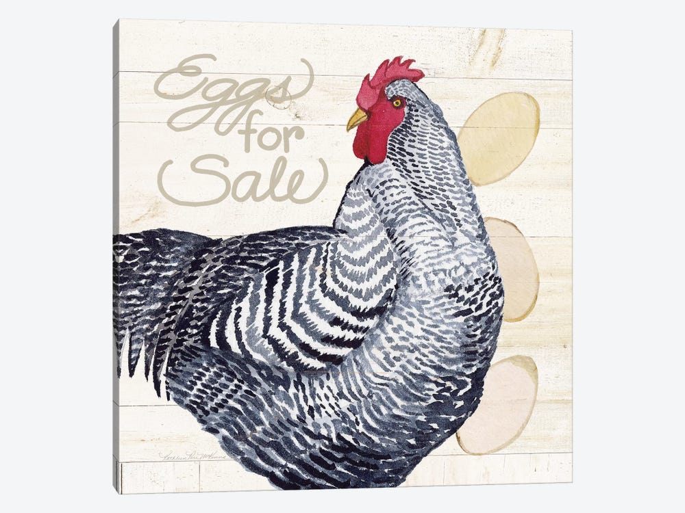 Life On The Farm: Chicken I by Kathleen Parr McKenna 1-piece Canvas Artwork