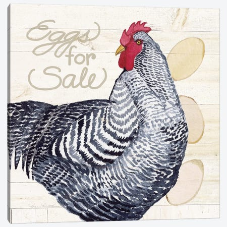 Life On The Farm: Chicken I Canvas Print #WAC8120} by Kathleen Parr McKenna Canvas Art