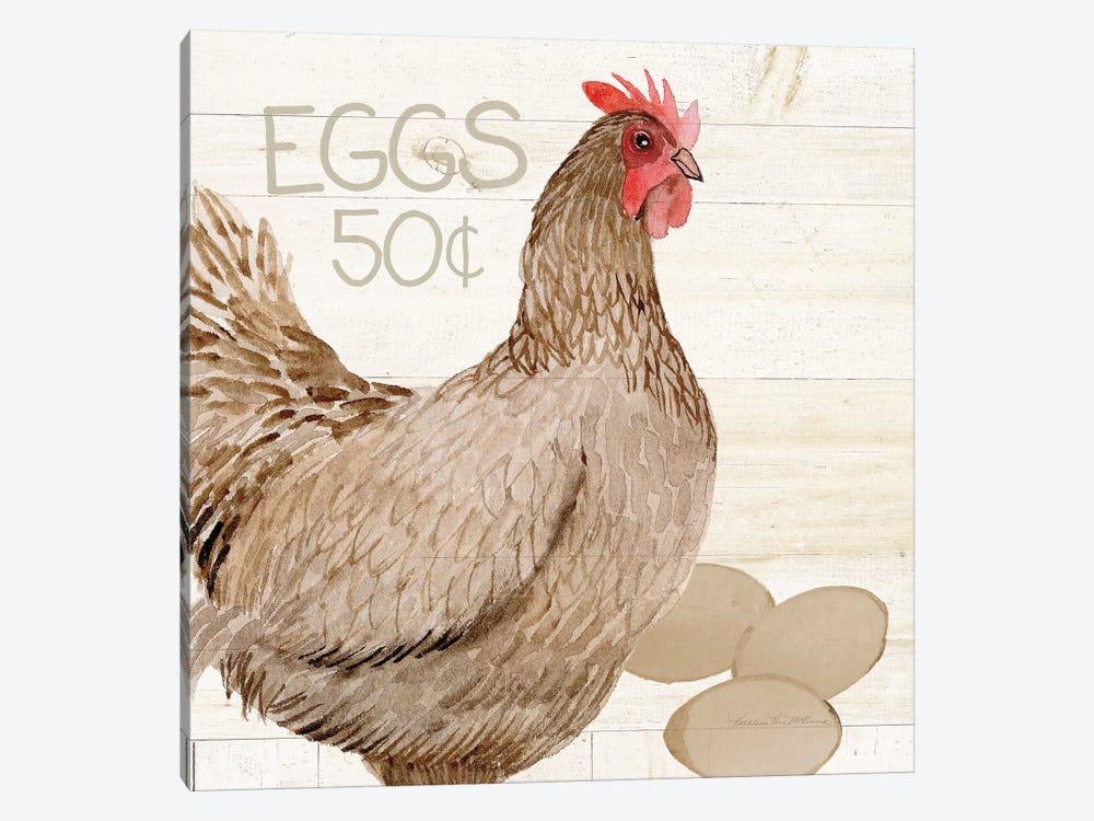 Life On The Farm: Chicken III by Kathleen Parr McKenna 1-piece Canvas Wall Art