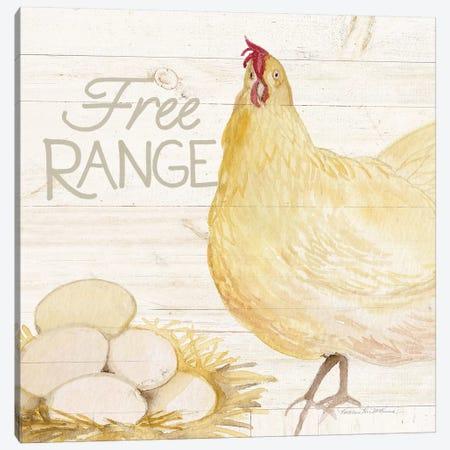 Life On The Farm: Chicken IV Canvas Print #WAC8123} by Kathleen Parr McKenna Canvas Art