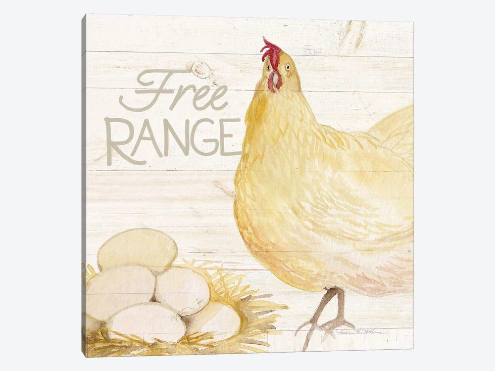 Life On The Farm: Chicken IV by Kathleen Parr McKenna 1-piece Canvas Print