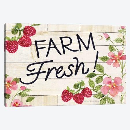 Life On The Farm: Sign I Canvas Print #WAC8124} by Kathleen Parr McKenna Canvas Print