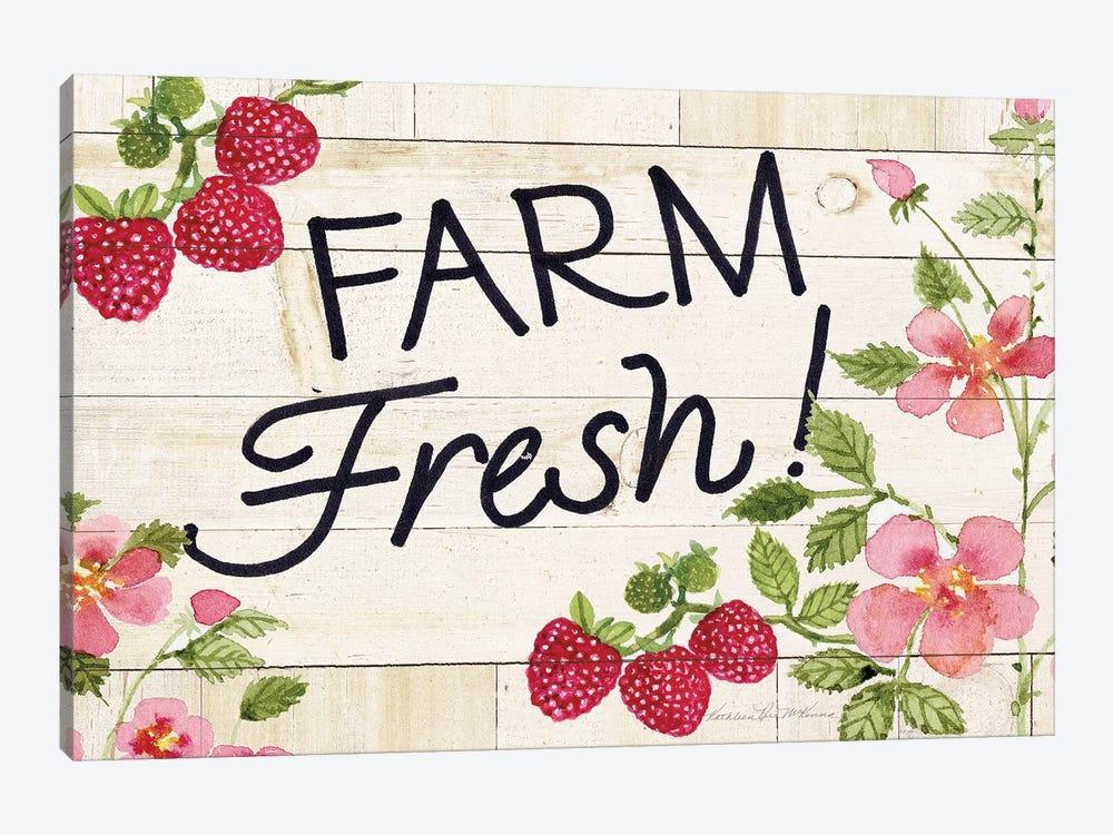 Life On The Farm: Sign I by Kathleen Parr McKenna 1-piece Canvas Artwork