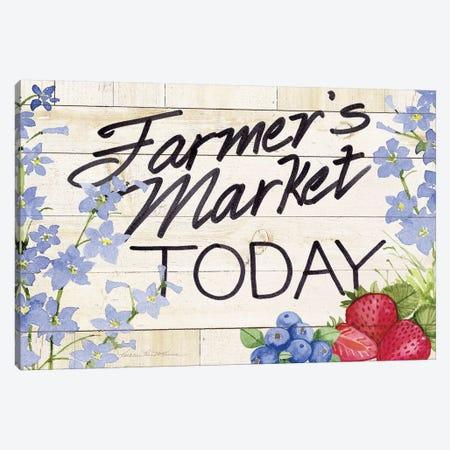 Life On The Farm: Sign II Canvas Print #WAC8125} by Kathleen Parr McKenna Canvas Art Print