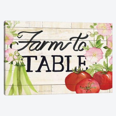 Life On The Farm: Sign III Canvas Print #WAC8126} by Kathleen Parr McKenna Canvas Art Print