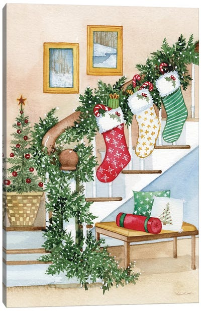 Night Before Christmas II Canvas Art Print
