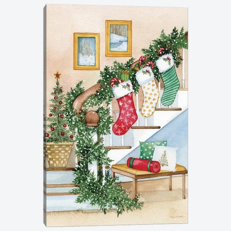 Night Before Christmas II Canvas Print #WAC8129} by Kathleen Parr McKenna Canvas Artwork