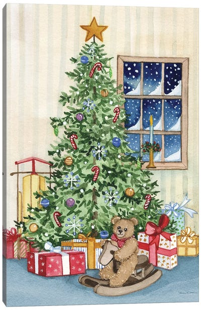 Night Before Christmas III Canvas Art Print