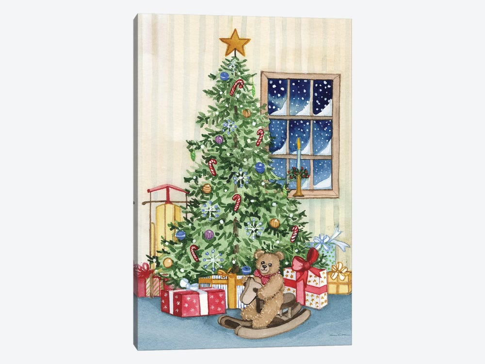 Night Before Christmas III by Kathleen Parr McKenna 1-piece Canvas Print