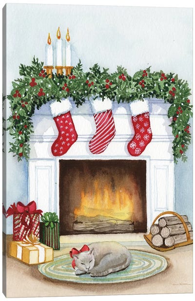 Night Before Christmas V Canvas Art Print