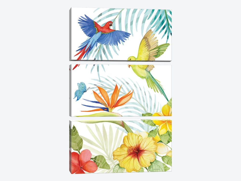 Treasures Of The Tropics II by Kathleen Parr McKenna 3-piece Art Print