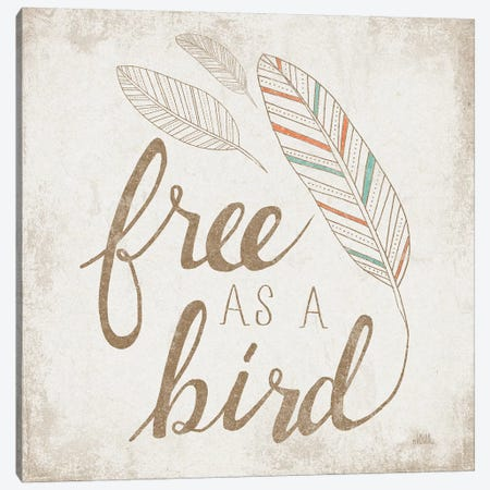 Free As A Bird Beige Canvas Print #WAC8146} by Laura Marshall Art Print