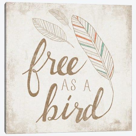 Free As A Bird Beige Canvas Print #WAC8146} by Laura Marshall Art Print