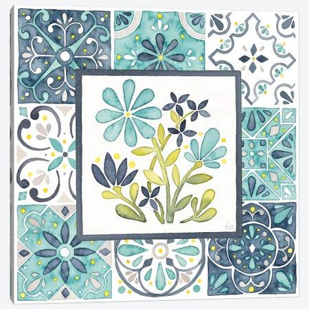 Garden Getaway Patchwork I Canvas Print #WAC8149} by Laura Marshall Canvas Art