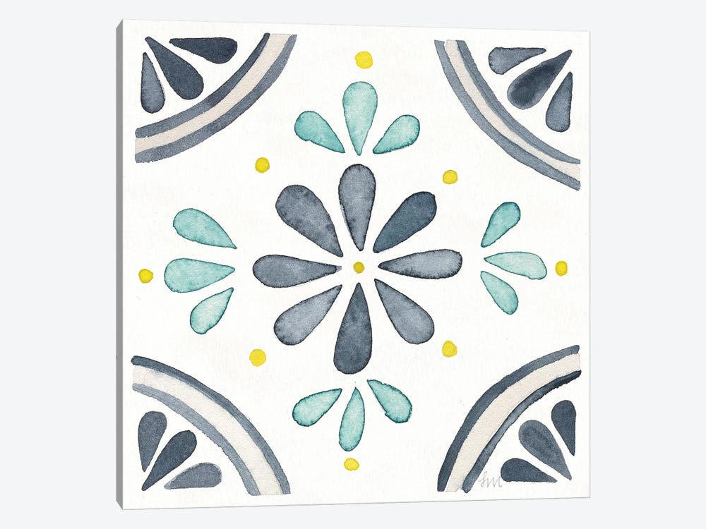 Garden Getaway Tile I White by Laura Marshall 1-piece Art Print