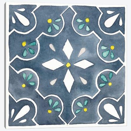 Garden Getaway Tile II Blue Canvas Print #WAC8153} by Laura Marshall Canvas Art Print