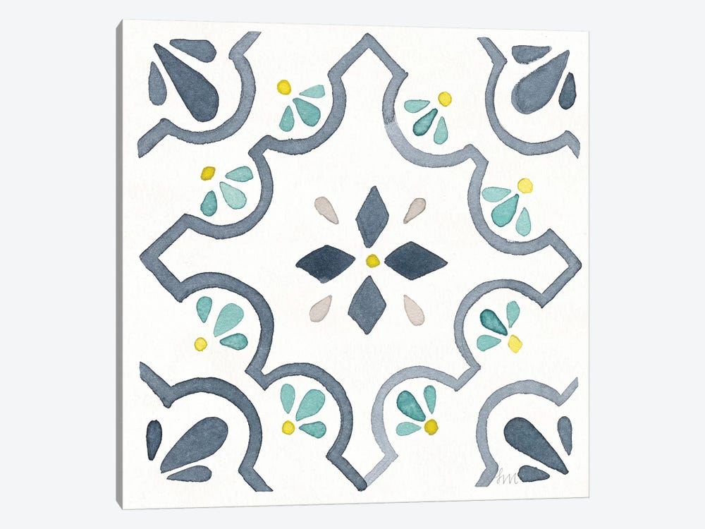 Garden Getaway Tile II White by Laura Marshall 1-piece Art Print
