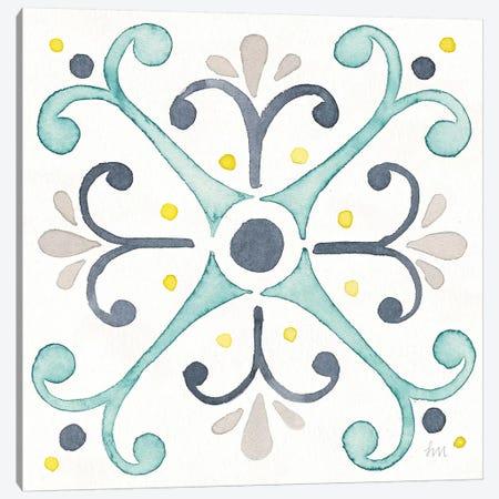 Garden Getaway Tile III White Canvas Print #WAC8156} by Laura Marshall Canvas Artwork