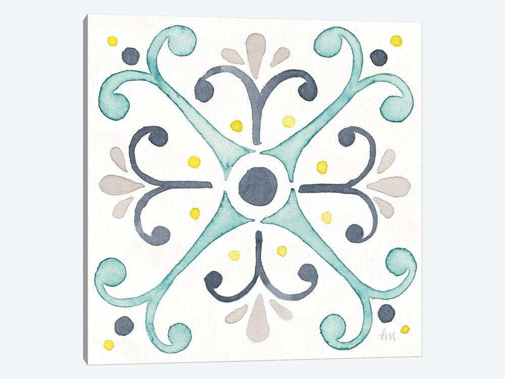 Garden Getaway Tile III White by Laura Marshall 1-piece Canvas Art Print