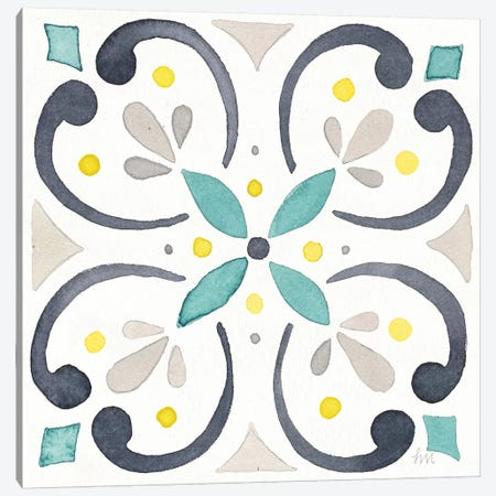 Garden Getaway Tile IV White Canvas Print #WAC8158} by Laura Marshall Art Print