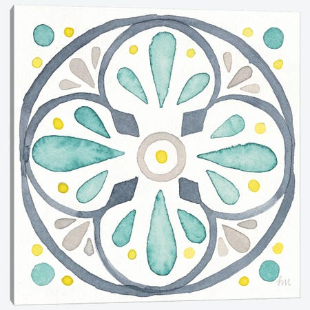 Garden Getaway Tile VI White Canvas Print #WAC8164} by Laura Marshall Art Print