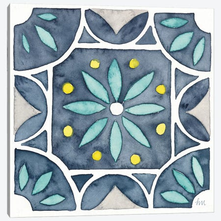 Garden Getaway Tile VIII Blue Canvas Print #WAC8167} by Laura Marshall Canvas Art Print