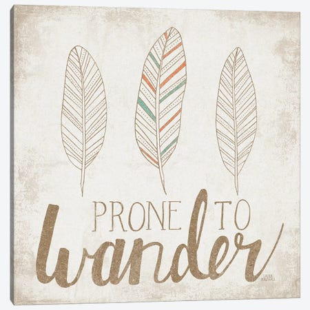 Prone To Wander, Beige Canvas Print #WAC8172} by Laura Marshall Art Print