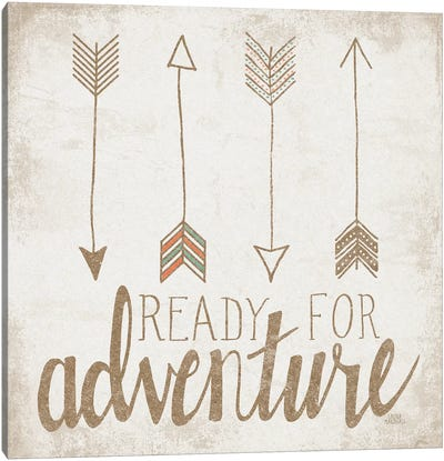 Ready For Adventure, Beige Canvas Art Print