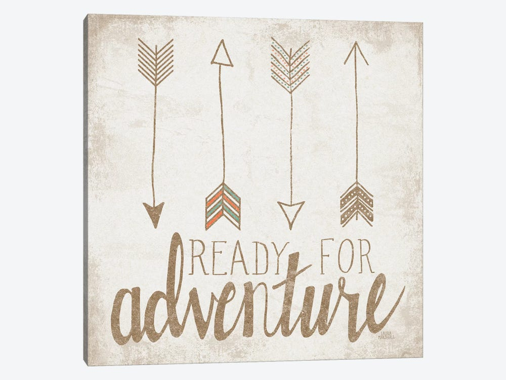 Ready For Adventure, Beige by Laura Marshall 1-piece Canvas Artwork